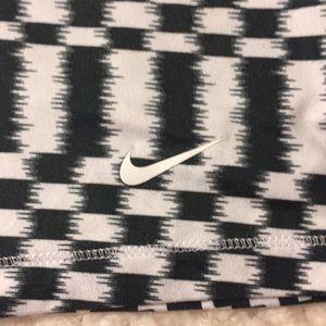 Nike Tops - Nike DryFit G87 black & white ikat racer back tank